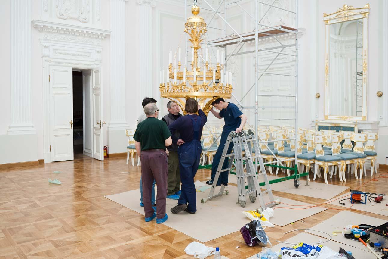 Реставрация Петровского путевого дворца